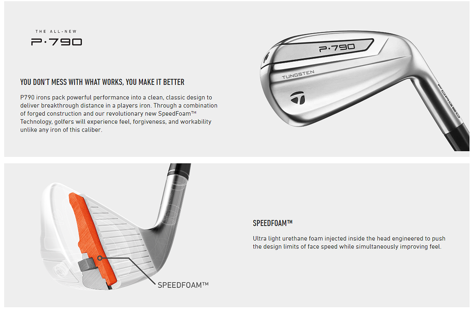 2019 TaylorMade P790 Steel Irons