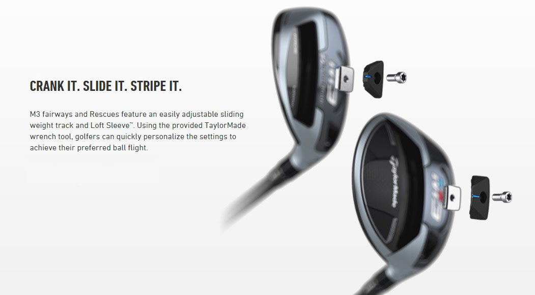 TaylorMade M3 Fairways Weight Tracking System Technology